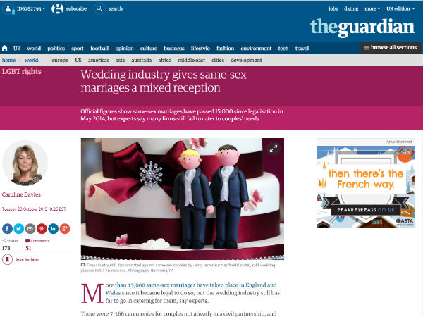 Gay Weddings Guardian