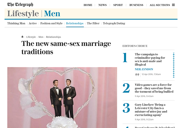 Gay Weddings Telegraph