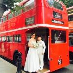 London Bus Lesbian Wedding