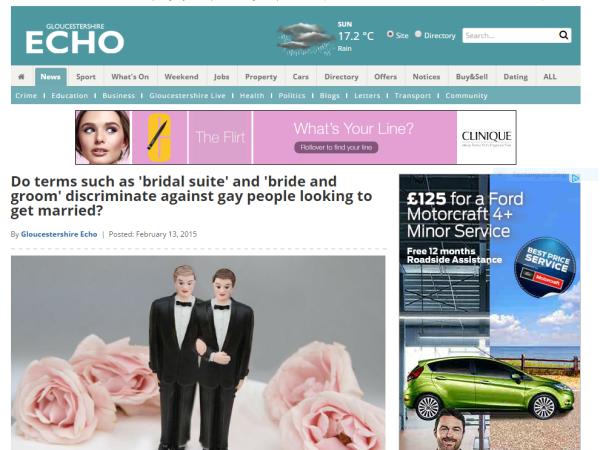 Gloucestershire Echo Gay Weddings