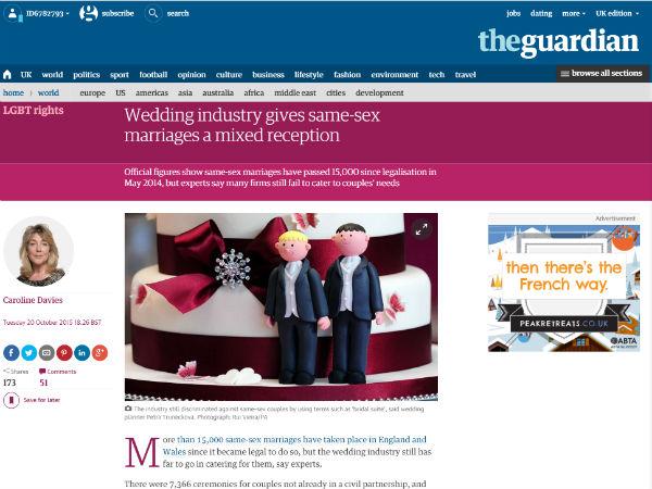 Gay Weddings Guardian