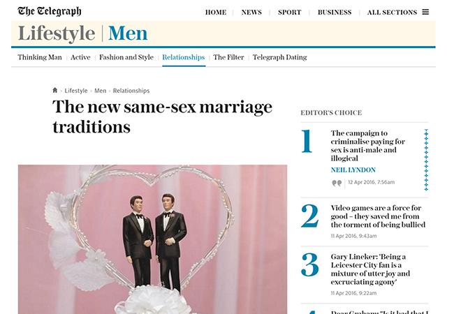 Gay Weddings Telegraph