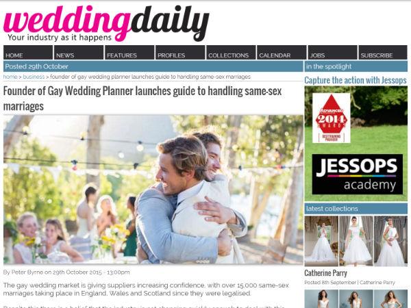 Gay Weddings Wedding Daily